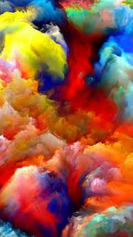 colorful painting painting colorful clouds android wallpaper free