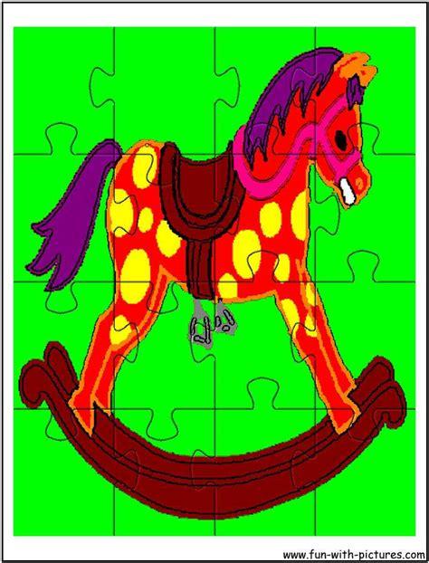 free printable horse jigsaw puzzles printable rocking horse jigsaw