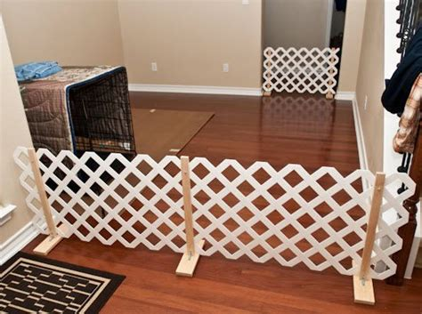 diy lattice pet gate petdiyscom diy dog gate diy dog