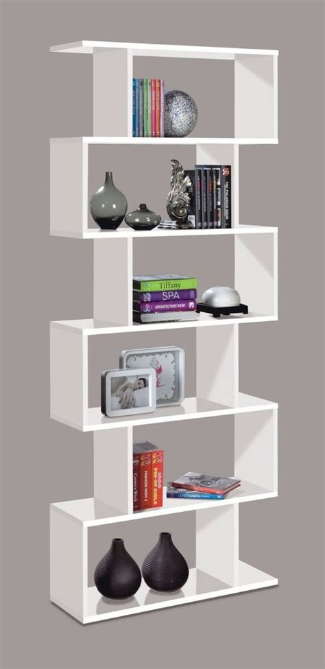 Zig Zag Room Divider Modern Bookcase Black Or White Zig Zag Room Divider Bookcase Lounge Bedroom Ideas For The