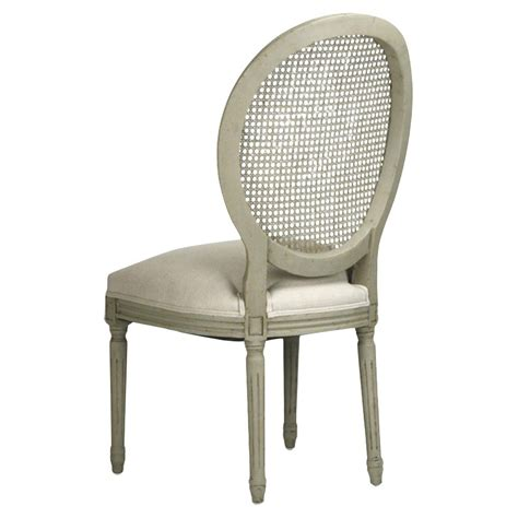 Pair Madeleine French Country Oval Caned Olive Dining Chair Caned Dining Chairs