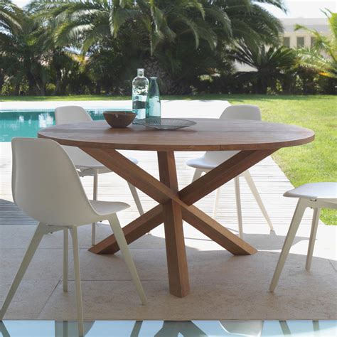 round outdoor dining table round outdoor dining table made of mahogany wood bridge by