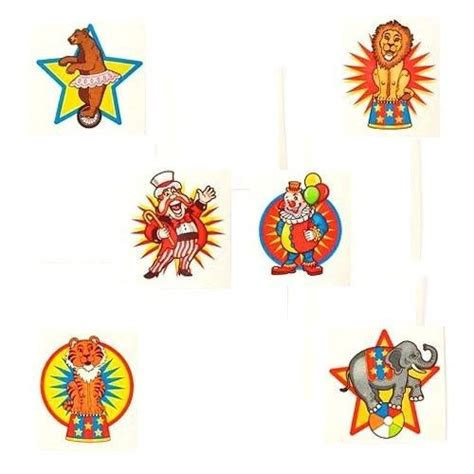 tattoo parlour afterpay circus tattoo favors x 36 kids themed party supplies