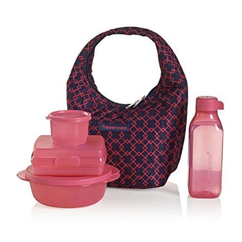 lunch keeper set with bag tupperware pink lunch bag set make convenience