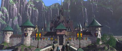 film disney village new frozen images show off elsa s ice palace arendelle