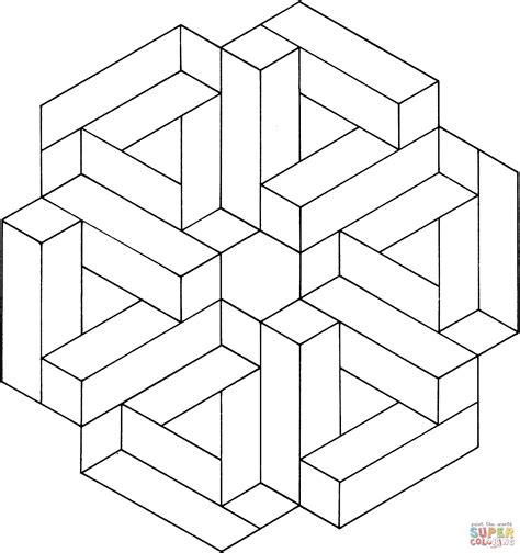 Optical Illusions Coloring Pages optical illusion 12 coloring page free printable