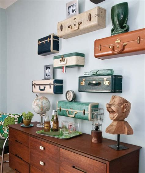 Decorating Ideas Using Suitcases Vintage Suitcase Crafts How To Reuse A Vintage Suitcase