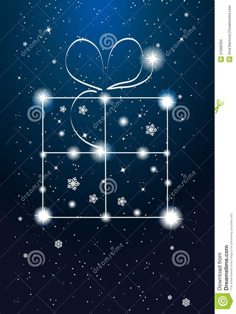 Constellation Gift Card - constellations gift box on the sky stock photo image 21586350