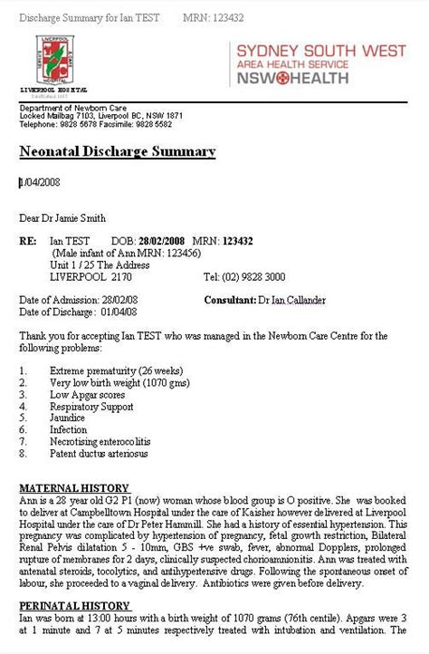 28 surgery discharge summary template 8 hospital