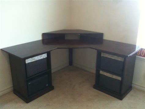 diy corner desks white corner desk diy projects
