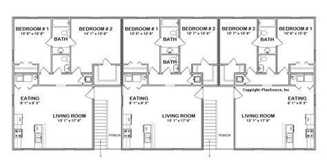 6 unit apartment building plans 6 unit apartment plan multi family j0418 11 6
