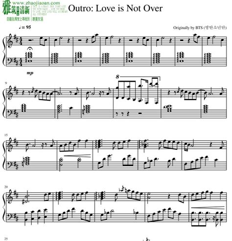download mp3 bts love is not over bts love is not over outro 钢琴谱 找教案
