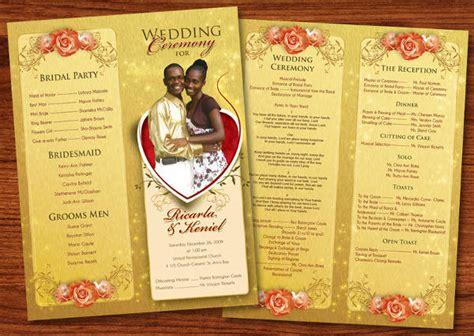 wedding reception program template template design 8 wedding event program templates psd vector eps ai