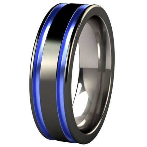 black and blue s wedding band abyss black