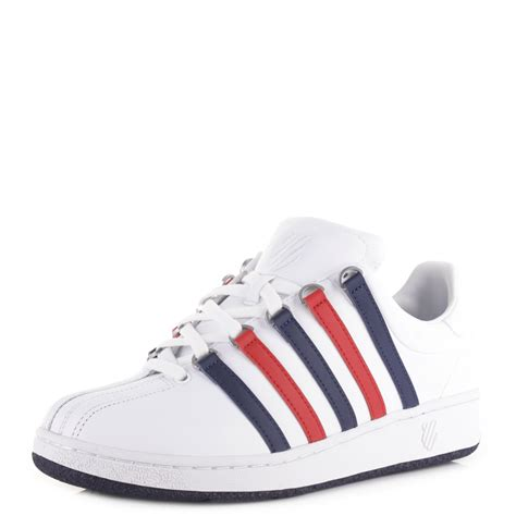k swiss classic shoes mens k swiss classic vn white leather court tennis shoes