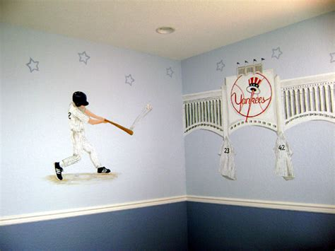 new york yankees bedroom ideas sports murals 166 sports theme room decor 166 sports fan room