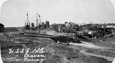 boat salvage yard sc salvage work on torpedo boats uss craven uss biddle and