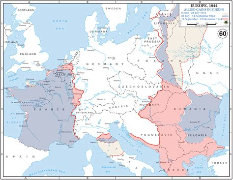 map of germany 1944 allied gains in europe june december 1944 maps