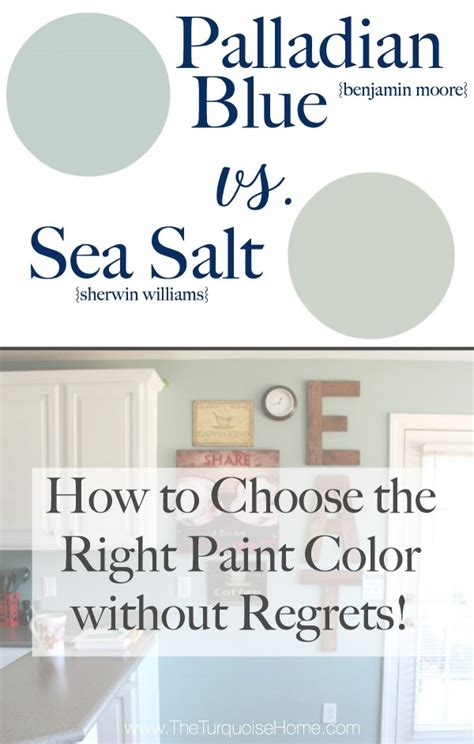 how to select paint colors sea salt vs palladian blue choose paint colors without