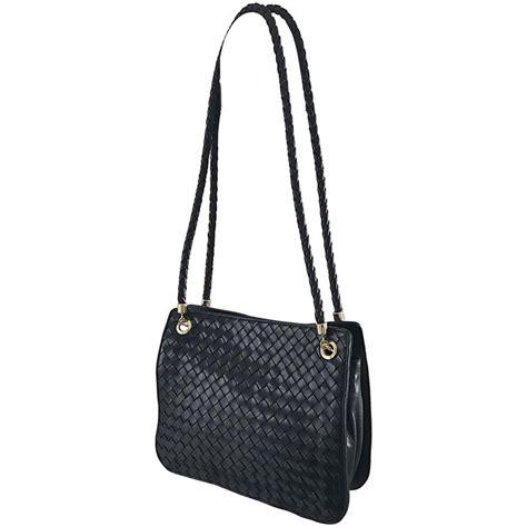 Bottega Veneta Woven Tote by Bottega Veneta Vintage Classic Black Woven Napa Leather