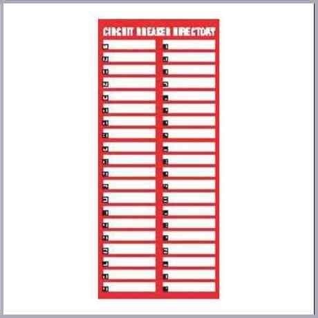 Square D Electrical Panel Label Template