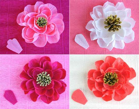 diy crepe paper flowers oh my handmade
