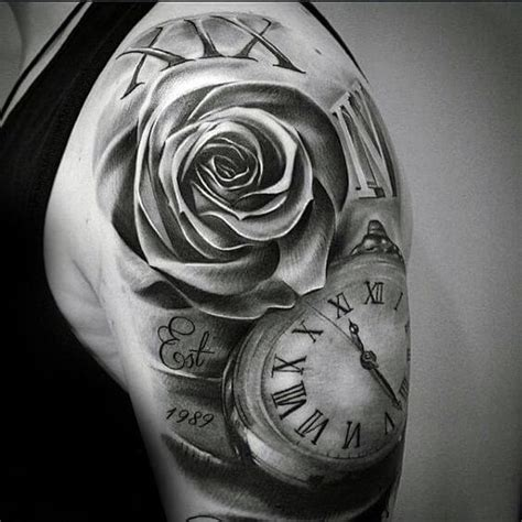 roman numeral tattoos for men ideas and designs for guys