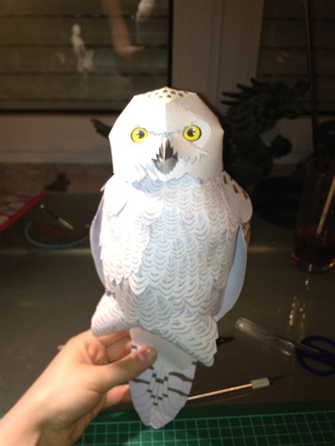 Owl Papercraft - white owl papercraft by scarletheartfilia on deviantart