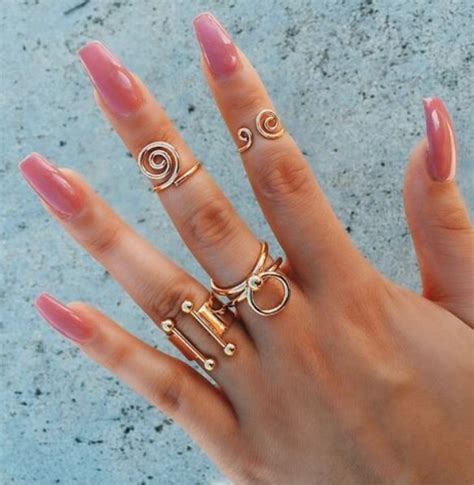 tip and ring colors acrylic nails jewelry nail color nails rings