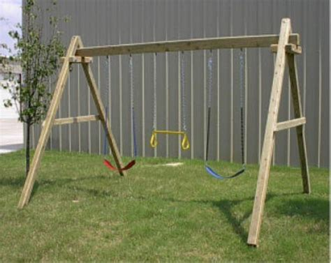 a frame swing sets wooden swing set farm pinterest