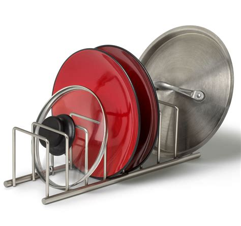 Lid Rack Organizer by Pot Lid Rack In Cookware Storage