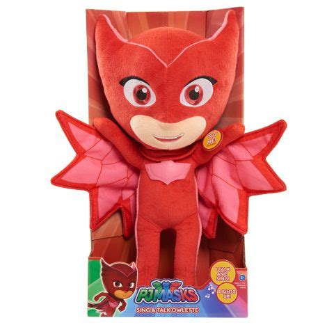 Pj Masks Sing And Talk Plush Gekko pj masks sing and talk plush owlette just play toys for of all ages