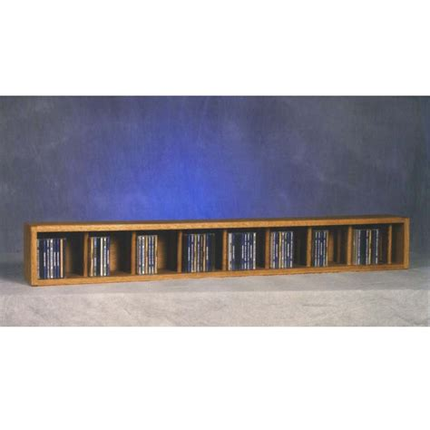 Wall Mounted Cd Rack by Wood Shed Solid Oak Wall Mount Cd Racks Tws 103d 4