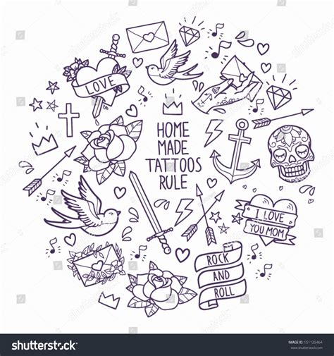 how to create a classic tattoo style vector illustration school elements vector stock vector