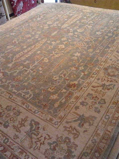 peshawar chobi gray green area rug 8x10 carpet
