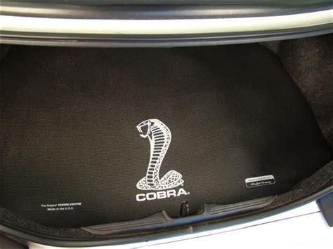 Fender Mats by Mustang Fender Gripper Trunk Mat W White Cobra Logo 94