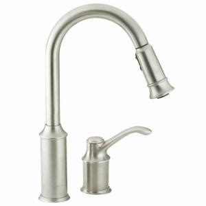 moen solidad classic stainless steel pull out kitchen moen aberdeen single handle pull down sprayer kitchen