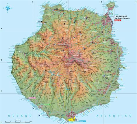 printable map gran canaria singapore points of interest check out singapore points