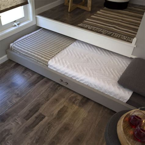 tiny house bed ideas slideaway bed in tiny house great option if you need a guest bed in your tiny
