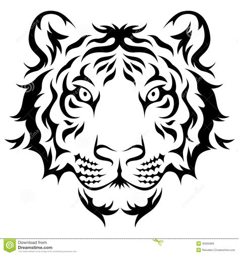 tiger head tribal tattoo tribal tiger stock vector image 45950969