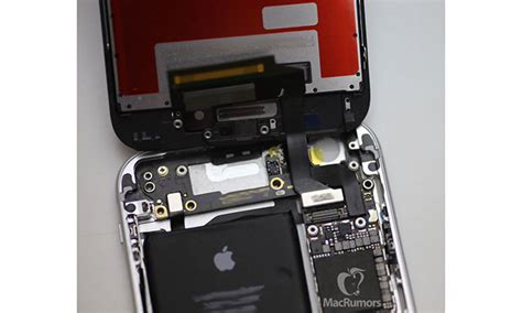 iphone hardware layout supposed iphone 6s display and logic board powered on