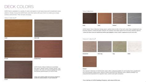 azek colors azek porch decking colors decks ideas