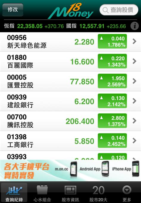 money iphone finance apps  oncc hk