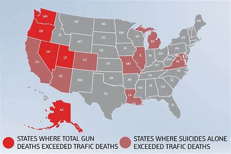 deaths by gun violence in the united states 2014 annual gun deaths in the us are catching up with those