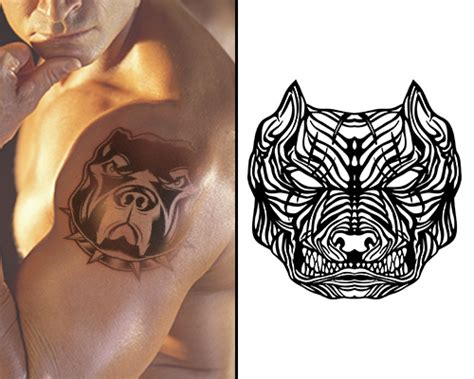 tribal pitbull tattoos pit bull design ideas and their meanings