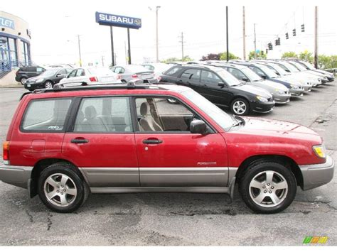 red subaru forester 2000 2000 canyon red pearl subaru forester 2 5 s 9497551 photo