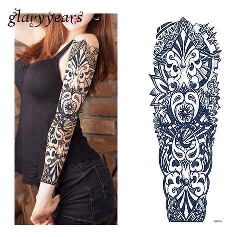 Aufkleber Von Papier Lösen 1 blatt tattoo aufkleber schwarz geometrie muster frauen