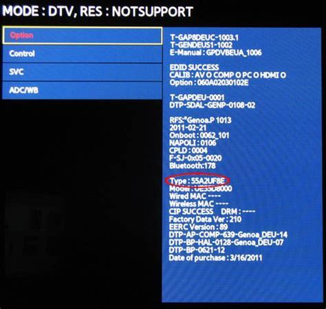 test pattern samsung service menu gamme tv 2011 samsung le menu cach 233 est toujours accessible