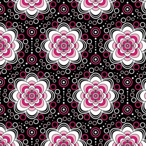 bubbles in bloom pink fabric jjtrends spoonflower