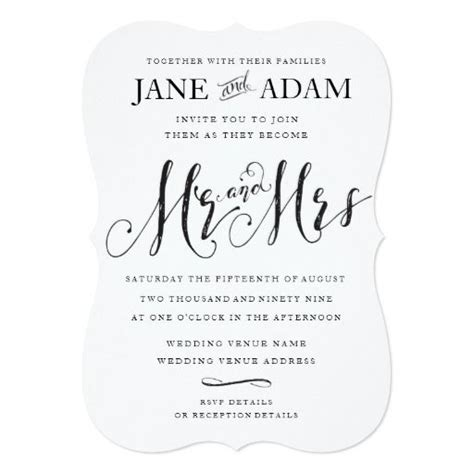 241 best images about mr and mrs wedding invitations on elopement wedding mr mrs